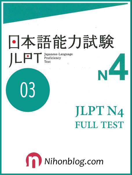 Thi thu JLPT N4 02