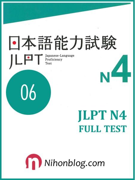 Thi thu JLPT N4 06
