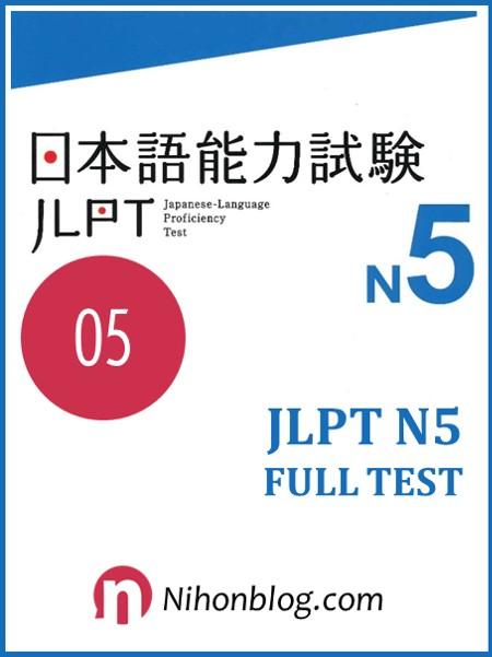 Thi thu JLPT N5 05