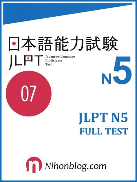 Thi thu JLPT N5 07