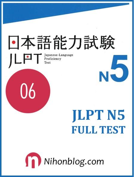 Thi thu JLPT N5 06
